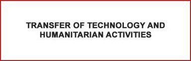 Transfer of technology and humanitarian activities
